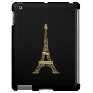 Caja negra francesa del iPad de la torre Eiffel Funda Para iPad
