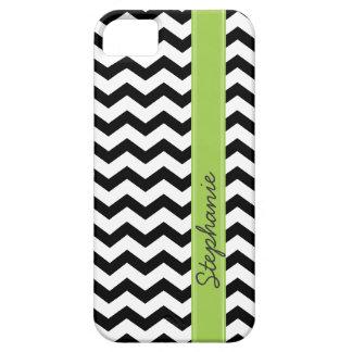 Caja negra personalizada del iPhone 5 del zigzag d iPhone 5 Case-Mate Carcasas