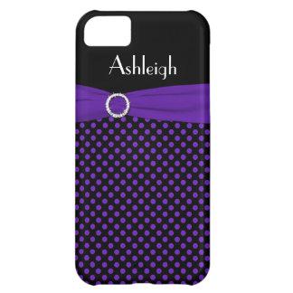Caja negra, púrpura personalizada del iPhone 5 del
