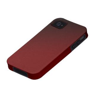 Caja negra roja de Iphone 4 de la pendiente Case-Mate iPhone 4 Fundas