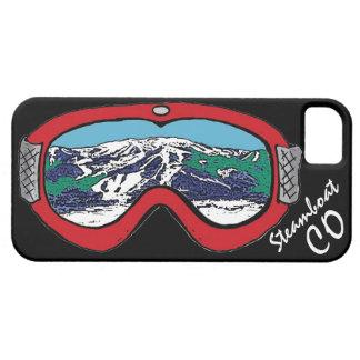 Caja negra roja de las gafas de Steamboat Springs iPhone 5 Carcasa