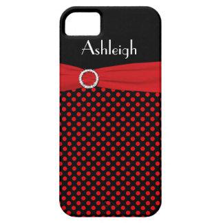 Caja negra, roja personalizada del iPhone 5 del lu iPhone 5 Carcasa