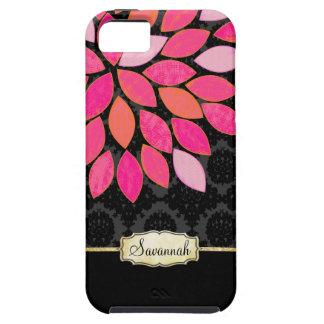Caja negra rosada anaranjada personalizada del iPh iPhone 5 Case-Mate Cobertura