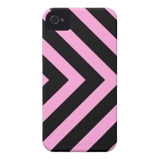 Caja negra rosada de Blackberry de las flechas del Case-Mate iPhone 4 Cárcasa