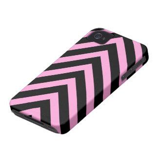 Caja negra rosada de Blackberry de las flechas del iPhone 4 Case-Mate Fundas
