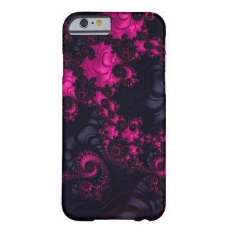 Caja negra rosada magnífica del fractal iPhone6 Funda Barely There iPhone 6