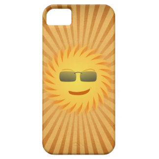 Caja negra sonriente feliz del iPhone 5 de Sun iPhone 5 Case-Mate Cárcasa