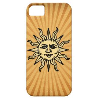 Caja negra sonriente feliz del iPhone 5 de Sun iPhone 5 Coberturas