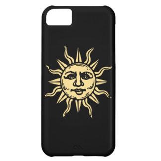 Caja negra sonriente feliz del iPhone 5 de Sun
