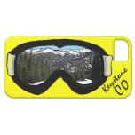 Caja negra trapezoidal del iphone 5 de las gafas d iPhone 5 fundas