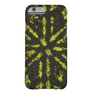 Caja negra y amarilla de la explosión funda barely there iPhone 6