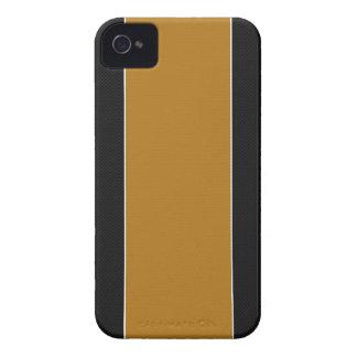 Caja negra y amarilla del iPhone 4 de la fibra de Case-Mate iPhone 4 Cárcasas
