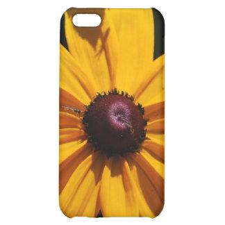 Caja negra y amarilla del iPhone 4 de la flor