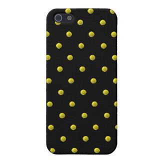 Caja negra y amarilla del iPhone 4 iPhone 5 Carcasas