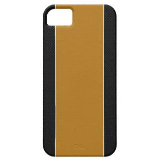 Caja negra y amarilla del iPhone 5 de la fibra de Funda Para iPhone 5 Barely There