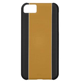 Caja negra y amarilla del iPhone 5 de la fibra de  Funda Para iPhone 5C