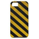 Caja negra y amarilla del iPhone 5 de la raya del  iPhone 5 Case-Mate Funda