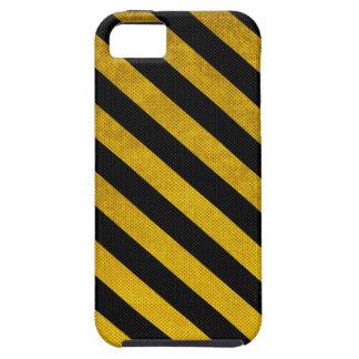 Caja negra y amarilla del iPhone 5 de la raya del iPhone 5 Carcasas
