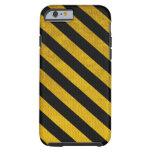 Caja negra y amarilla del iPhone 6 de la raya del Funda De iPhone 6 Tough