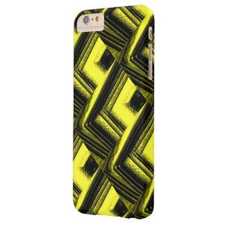 Caja negra y amarilla del iPhone Funda Para iPhone 6 Plus Barely There