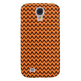 Caja negra y anaranjada del teléfono celular de Ch