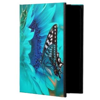 Caja negra y azul del aire del iPad de la mariposa