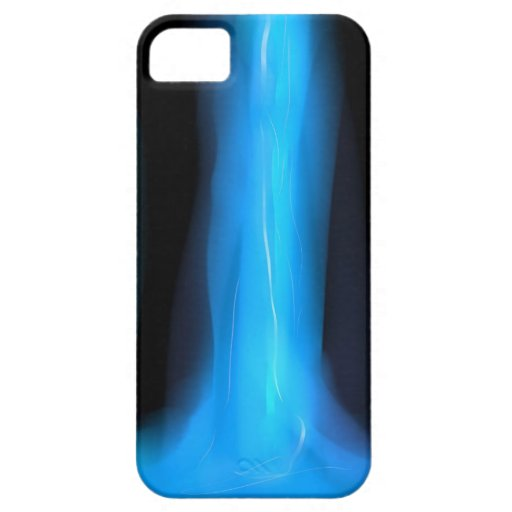 Caja negra y azul iPhone 5 Case-Mate protectores