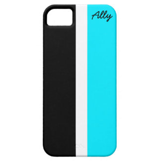 Caja negra y azul seccionada del iPhone iPhone 5 Funda