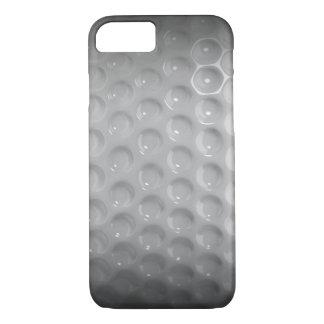 Caja negra y blanca de la pelota de golf clásica funda iPhone 7