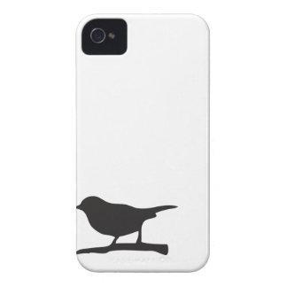 Caja negra y blanca de la rama del pájaro del Case-Mate iPhone 4 carcasa