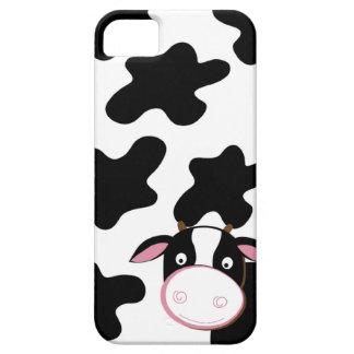 Caja negra y blanca de la vaca lechera del iPhone iPhone 5 Funda