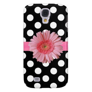 Caja negra y blanca de Samsung S4 del lunar Funda Para Samsung Galaxy S4