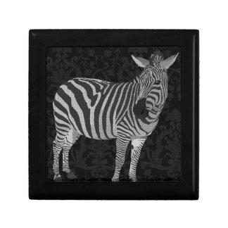 Caja negra y blanca de Zeb Joyero Cuadrado Pequeño