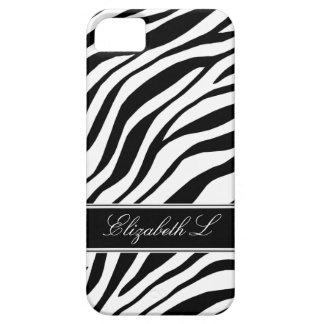 Caja negra y blanca del estampado de zebra del iPh iPhone 5 Cárcasas