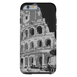 Caja negra y blanca del iPhone 6 de Colosseum Funda Para iPhone 6 Tough