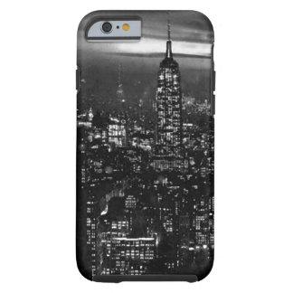 Caja negra y blanca del iPhone 6 de New York City Funda Para iPhone 6 Tough