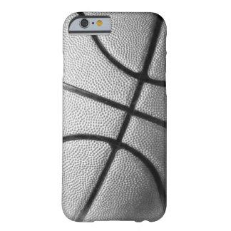 Caja negra y blanca del iPhone 6 del baloncesto Funda Barely There iPhone 6