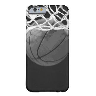 Caja negra y blanca del iPhone 6 del baloncesto Funda Para iPhone 6 Barely There