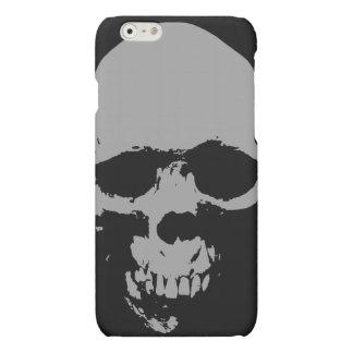 Caja negra y blanca del iPhone 6 del cráneo del