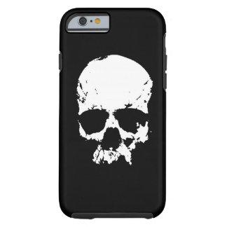 Caja negra y blanca del iPhone 6 del cráneo del Funda Resistente iPhone 6