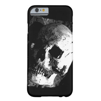 Caja negra y blanca del iPhone 6 del cráneo Funda De iPhone 6 Barely There