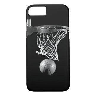 Caja negra y blanca del iPhone 7 del baloncesto Funda iPhone 7