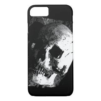 Caja negra y blanca del iPhone 7 del cráneo Funda iPhone 7