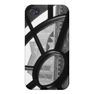 Caja negra y blanca del iPhone de la fotografía de iPhone 4 Cárcasa