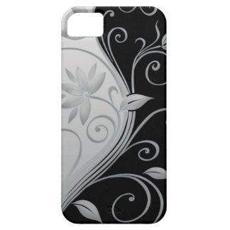 Caja negra y blanca elegante del iPhone del iPhone 5 Funda