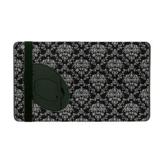 Caja negra y de plata elegante del iPad del damasc
