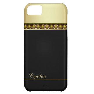 Caja negra y dorada atractiva del iPhone 5C Funda Para iPhone 5C