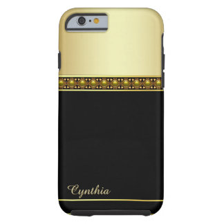 Caja negra y dorada atractiva del iPhone 6 Funda De iPhone 6 Tough