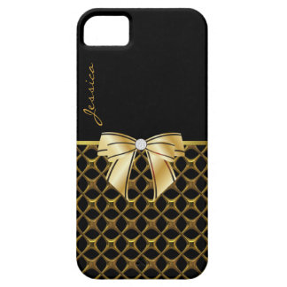 Caja negra y dorada elegante del iPhone 5 iPhone 5 Case-Mate Cobertura