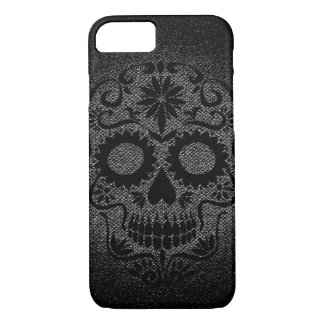 Caja negra y gris del cráneo del iPhone 7 Funda iPhone 7